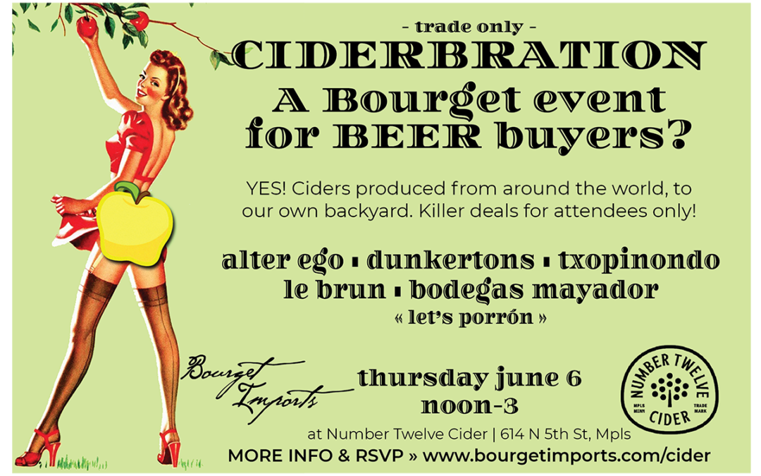 [Trade Only] Ciderbration – June 6, 2019 at Number Twelve Cider in Minneapolis