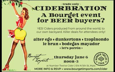 [Trade Only] Ciderbration – June 6, 2019 at Number Twelve Cider in Minneapolis