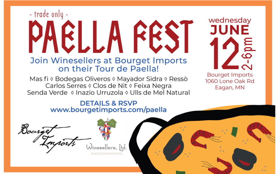 [Trade Only] Paella Fest – June 12, 2019 at Bourget Imports in Eagan