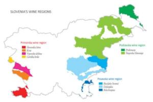 Slovenia Wine Growing Regions