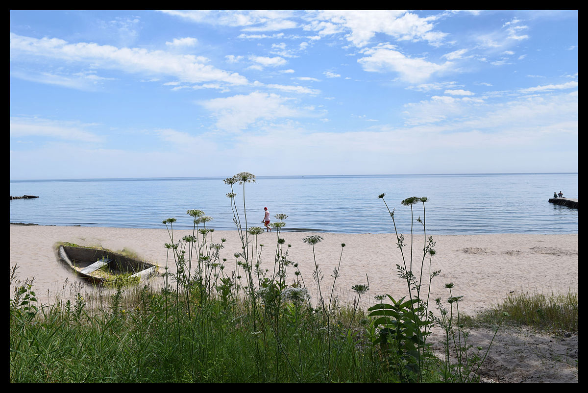 This public beach on Lake Michigan is located north and east of downtown Sheboygan. Source: Wikipedia, Public Domain.
