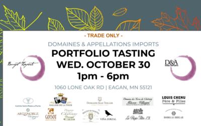 Fall D&A Portfolio Tasting: Oct 30, 1-5