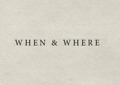 When & Where Wines